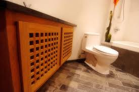 Teak Vanity Bathroom by Custom Bathroom Vanity