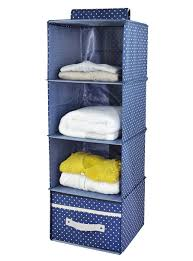 4 shelf hanging closet organizer with drawer thick wooden boards