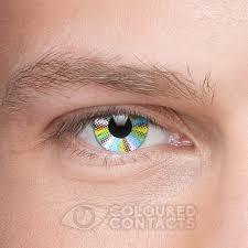Multicoloured Flag Rainbow 90 Day Reusable Multicoloured Coloured Contact Lenses