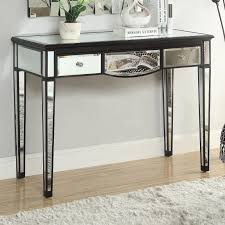 Black Console Table With Storage Accent Tables Black Console Table With Mirror Accents