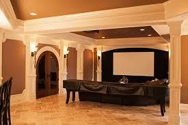 Media Room Pictures - crooked creek basement with reclaimed barnwood creekstone custom