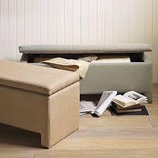 upholstered storage bench west elm