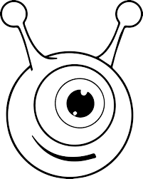 alien coloring pages her eye coloring pages the aristocats winking her eye coloring pages