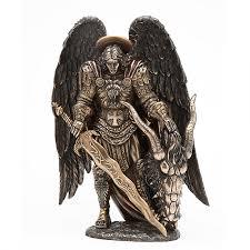 archangel st michael bronze statue by derek w frost christian art