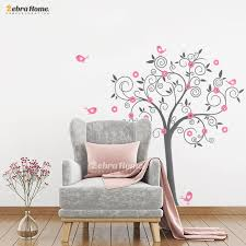 birds flowers vinyl tree wall stickers for room home