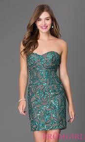 sequin strapless short homecoming dress brand prom dresses