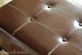 How To Reupholster A Leather Ottoman What Would You Do With An Leather Bench Makely
