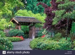 Botanical Garden Bellevue Yao Japanese Garden Entry Bellevue Botanical Garden Bellevue Stock