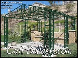 Pre Made Pergola by Patio Covers And Decks Santa Clarita Christopher French Construction