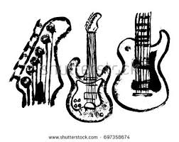old style drawing musical instruments download free vector art