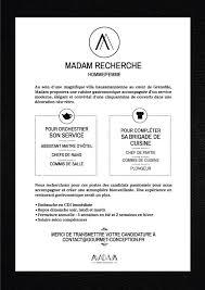 comp騁ences commis de cuisine restaurant madam photos grenoble menu prices