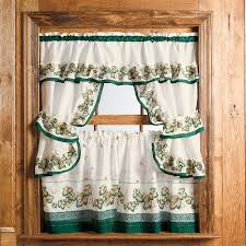 kitchen design beige kitchen curtain panel and bay window smart green accent kitchen curtain set with wooden window frame full size