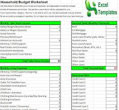 Excel Spreadsheet Household Budget Yearly Budget Template Excel