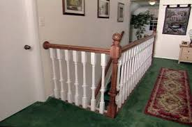 Wooden Stair Banisters How To Install A Wood Stair Railing From A Kit U2022 Diy Projects U0026 Videos