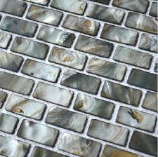 Grey Mosaic Bathroom Grey Shell Mosaic Tiles Backsplash Mop090 Brick Mother Of Pearl