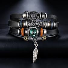 mens bracelet styles images Vintage multiple layer charms men bracelet 5 styles collet men jpg