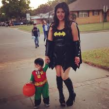 matching halloween costumes mommy and son halloween costume idea batmom and robin