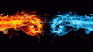 fire and ice conflict 1366x768 wallpaper 7415 opposites attract