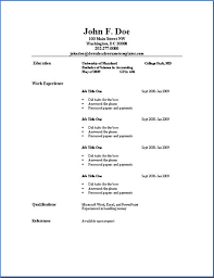 Easy To Use Resume Templates Easy Free Resume Template Resume Template And Professional Resume