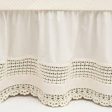 Shabby Chic Bed Skirts by Crochet Edge Ivory Bed Skirt Could Also Go Vintage Y Mb House