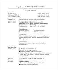 Resume Samples For Internship by Sample Internship Resume 7 Examples In Word Pdf