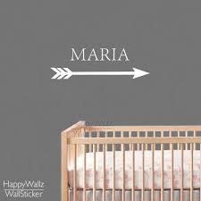 custom wall decals for nursery custom name wall sticker arrow wall decal baby nursery name wall