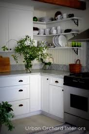 Open Kitchen Shelving Ideas by Open Shelving Color Inspiration Black Brackets With White