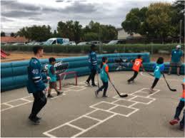 floor hockey unit plan sharks visit santa teresa elementary future goals