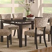 transitional dining room sets amazon com coaster home furnishings transitional dining table