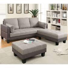 sofa set furniture furniture of america oneka taupe grey 3 piece convertible futon