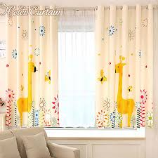 Yellow Window Curtains Helen Curtain Giraffe Window Curtains Yellow Baby