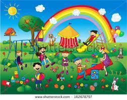 children park stock vector 162678797
