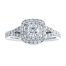 cushion engagement rings cushion cut diamond halo engagement ring in 14k white gold