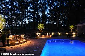 Outdoor Kitchen Lights Baltimore Lighting Services Beechtree Landscaping