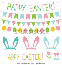 easter photo props easter vector decoration photo booth props stock vector 369499598