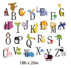 Alphabet Wall Decals For Nursery Alphabet Wall Decal Nursery Wall Decal Alphabet Wall Decal