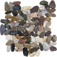 shop style selections river rock multicolor flat polished pebble