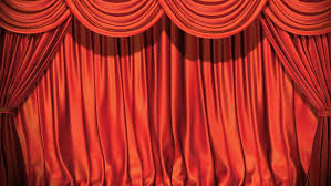 Red Blue Curtains Red Curtain Open Video Stock Footage