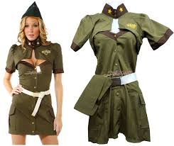Women Army Soldier Uniform Costume Halloween Fashion