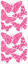 flocked butterfly wall stickers girls wall stickers roommates flocked butterfly wall stickers