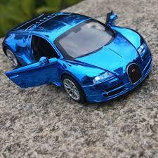 model car toy 1 32 bugatti veyron 1 32 model cars toys gifts blue plated sound u0026light