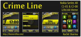 nokia 2690 black themes crime line for nokia c1 01 c2 00 2690 128 160 themereflex