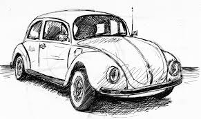 volkswagen bug drawing it seemed funny at the time even more sketches