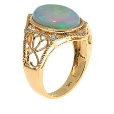 eclectic lion ring holder images 14k yellow gold ethiopian opal diamond accented scroll design ring jpg