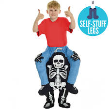 skeleton halloween costumes for kids kids skeleton piggyback costume morph costumes us