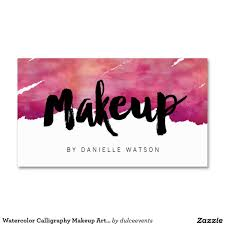 watercolor calligraphy makeup artist pack of standard business