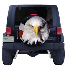 Bald Eagle And American Flag Bald Eagle Head With American Flag Spare Tire Cover