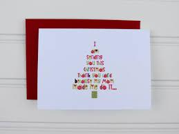 christmas thank you card christmas gift thank you by playapaper