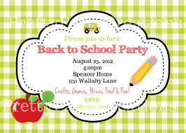 Welcome Back Party Ideas by Back To Party Invitation You Pint