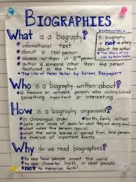 ks2 literacy biography and autobiography biographies anchor chart pinteres
